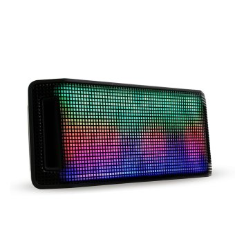 Harga Portable LED Bluetooth Speaker - Hitam