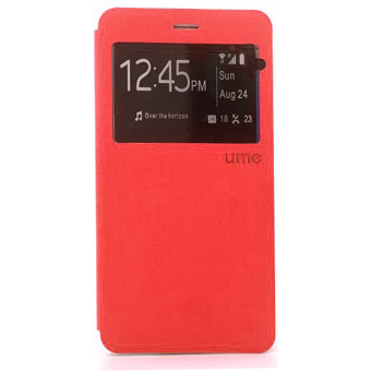 Harga Ume Flip Cover For Alcatel Flash 2 - Merah