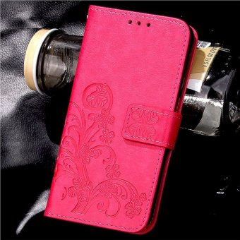 Purple Intl Source · BYT Flower Debossed Leather Flip Cover Case for Xiaomi .
