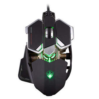 Harga BLN G10 4000 DPI Adjustable Optical 9 Buttons 4 Colors Professional Mechanical Gaming USB Wired Macros Games Cable Mouse Mice (Black) (Intl)