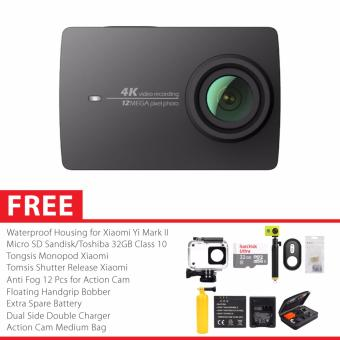 Harga Xiaomi Yi 4K Mark II/Ver.2 International Version Combo Paket Complete - Hitam