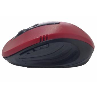 4connect Optical Wireless 2.4GHz Mouse -Red - 3