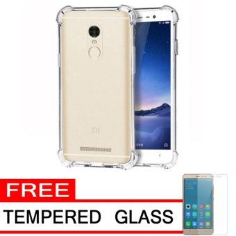 Harga Case AntiCrack / Anti Crack / Shock / Benturan Elegant Softcase for Xiaomi Xioami Xiomi Redmi Note 4 + Gratis Free Tempered Glass