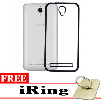 Softcase Silicon Jelly Case List Shining Chrome for Asus Zenfone C ZC451CG - Black + Free