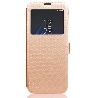 BYT Leather Flip Cover Case for Samsung Galaxy S8 Plus with Window View .