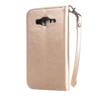 RUILEAN Leather Case For Samsung Galaxy J2 2015 Flower Skin Flip Wallet Pouch .