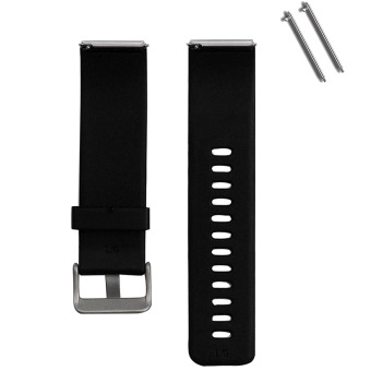 Harga Silicone Replacement Watchband Smart Bracelet Watch Band Strap with Metal Claps for Fitbit Blaze Smart Fitness Tracker Smartband Black