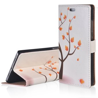 RUILEAN Flip Leather Case For Sony Xperia Z5 Premium Maple Tree Wallet Folio Card Slots kickstand Shock Absorbent TPU Cover ...