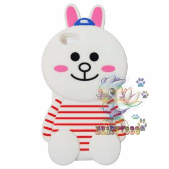 Harga Beauty Cony Bunny Case 3D For Oppo A39 Silicone 3D Boneka Cony Line Jelly Case / Silicone / Soft Case / Case Unik / Case Oppo / Case Boneka - Cony Bunny Case