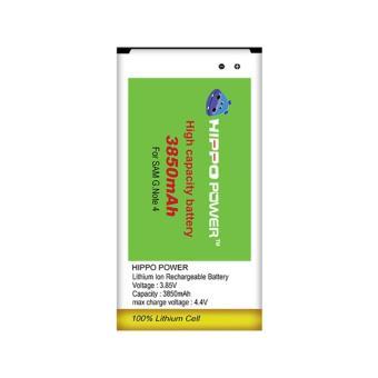 Hippo Baterai Double Power Samsung Galaxy Note 4 3850 MAh