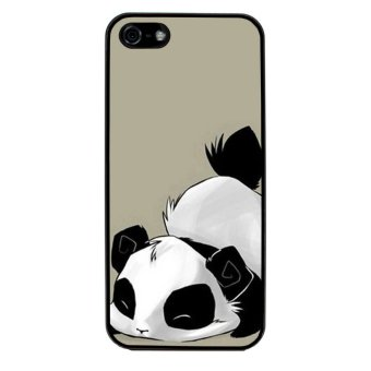 Harga Panda Cute Pattern Phone Case for iPhone 5/5S (Black)