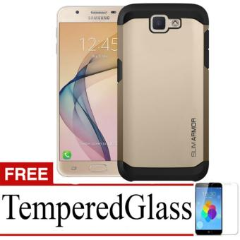Case Slim Armor For Samsung Galaxy J5 Prime + Free Temperedglass - Gold
