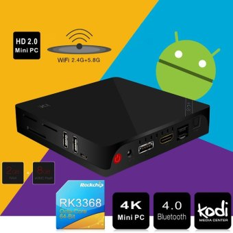 Harga Beelink i68 TV Box UHD 4 KB Mini PC H, 265 XBMC KODI 1000 m Ethernet Android 5.1 Okta sari RK3368 2, 4G 5.8 G WiFi Bluetooth HDMI 2.0
