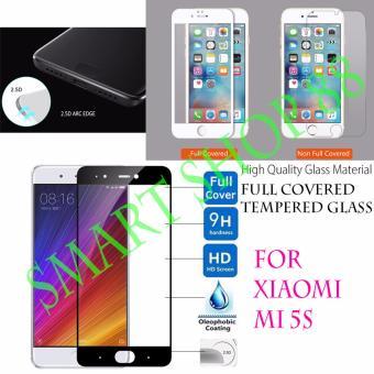 Smart Full Cover Tempered Glass Warna for Xiaomi Mi5s - Hitam .