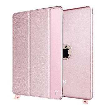 Harga OATSBASF Silk Texture Leather Flip Case Cover for iPad mini 4 - Pink - intl