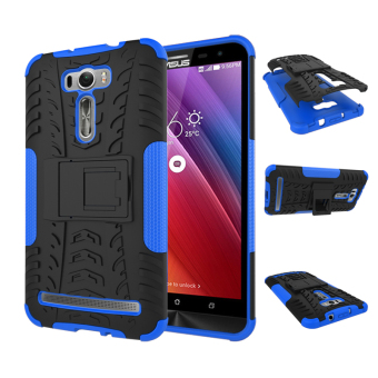 "Harga For ASUS ZenFone 2 Laser Case ZE601KL (6.0"") Case Heavy Duty Rugged Hybrid Dual Layer Kickstand Shockproof Protective Case Cover for ZenFone 2 Laser (6.0 inch) (Blue)"