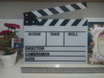 Harga Goodhand White Acrylic Clapper Board Slate With Stick For TV Movie Production
