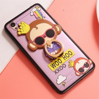 Harga Oppo A37 Cute monkey TPU fashion phone case/Crown monkey - intl