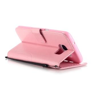 Pola dompet slot kartu kupu kupu PU kulit untuk menutupi kasus Samsung Galaxy .