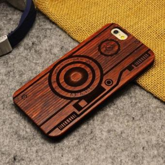 Harga LYBALL Luxury Natural Wooden Wood Bamboo + PC Case For iPhone 5 5s Hard Back Cover - intl