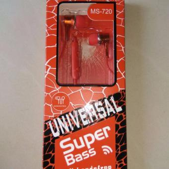 Harga TOP 3 in 1 Universal Super Bass MS-720 Mobile Hi-Fi Handsfree Earphone