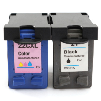 Harga BrightSpot 2 HP 21 HP 22 Compatible Ink Cartridges C9351AN C9352AN for HP Deskjet Printer