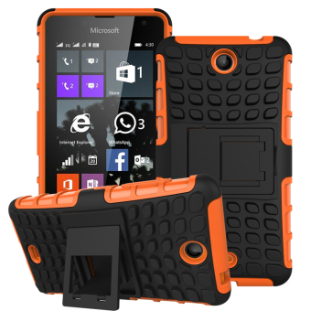 Harga Hybrid TPU + PC Protective Case for Microsoft Lumia 430 (Orange).