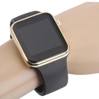 uNiQue Smart Watch A1 for iOS and Android - Strap Rubber - Black .