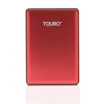 Detail Gambar Hitachi HGST Touro S 500GB 7200RPM - Merah Gratis Go Green Bag + Pouch
