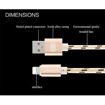 Earldom Kabel Charging USB Nylon Metal USB ET 36N Lightning Grey 2 .
