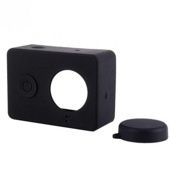 Harga CCC Silicone Case and Lens Cap - Cover for Xiaomi Yi Sport Camera Silicon - Hitam