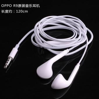 Harga OPPO Hansfree Headset Mega Bass With Volume Control For OPPO R9 Original