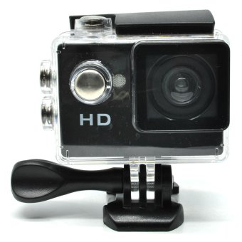 Harga HD A7 Action Camera 30M Waterproof 720P Wide Angle LCD Screen - Black