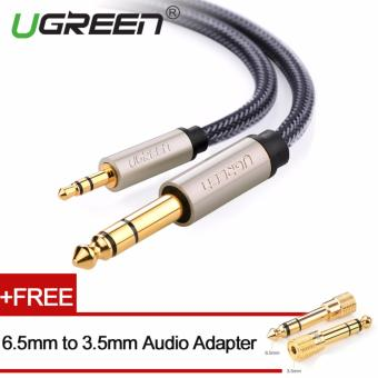 Harga UGREEN 3.5mm to 6.5mm Audio Cable Nylon Braided with Audio Adapter - 1m