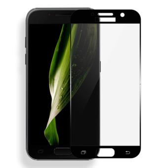 ... 3D Curved Full Cover 9H Tempered Glass Screen Protector For Samsung Galaxy A7 2017 Black intl