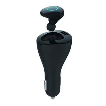 Harga Devia Vortex Car Charger with 4.0 Bluetooth Headset - Hitam