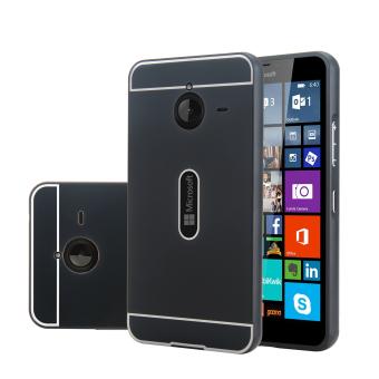 Moonmini Metal + PC Frame Bumper Case for Microsoft Lumia 640XL (Black)