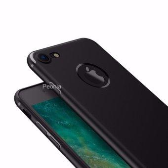 Peonia Anti Fingerprint Ultraslim Hybrid Case for Iphone 7 4.7 Inch - Hitam .