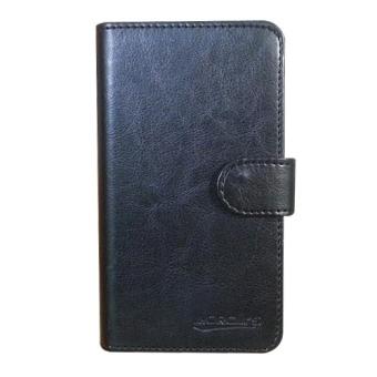 Case Book Cover Casing untuk Microsoft / Nokia Lumia 620 - Hitam + Gratis Clear Screen