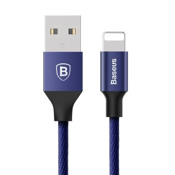 Harga BASEUS Yiven Sync Charging Lightning 8Pin Cable for iPhone iPad iPod - Blue