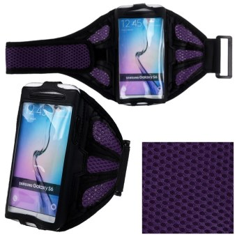 Jogging Sports GYM Armband Case Cover Holder for Samsung Galaxy S6 Edge S6 S5 S4 (Purple)