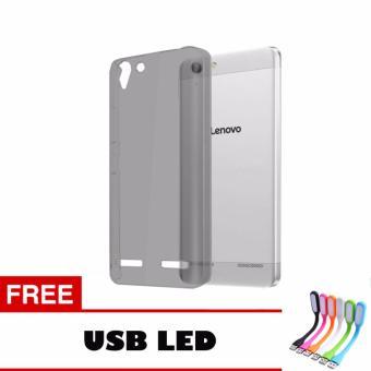 Softcase Ultrathin Lenovo K5 Plus Aircase - Hitam + Free Usb Led