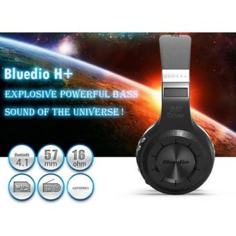 Harga SP HiFi Bluedio H+ Wireless Bluetooth Hand Free Headset Super Bass Music Headphone with Line-in Socket Microphone TF Card Slot