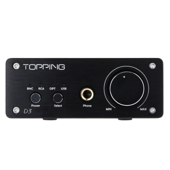 Harga TOPPING D3 2 in 1 Mini Multi-function HiFi USB DAC Headphone Amplifier (Black)