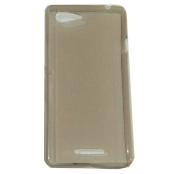 Harga Emco for Sony Xperia E3 Hard Protective Guard Soft Rubber Ultra Fit Silicon Case - Abu-abu