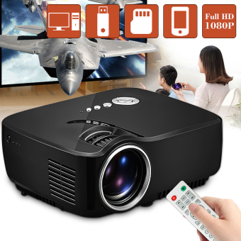 Harga GP70 LCD Portable LED Projector 1080P Full HD 1200 Lumens HDMI USB FHD SD Home Theater Beamer - intl