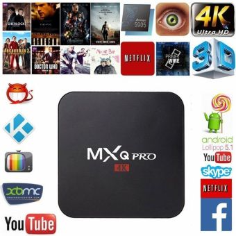 Harga MXQ Pro Android TV Box S905 4 KB Digital TV Streaming ruangan Quad Core Android 5,1 - International