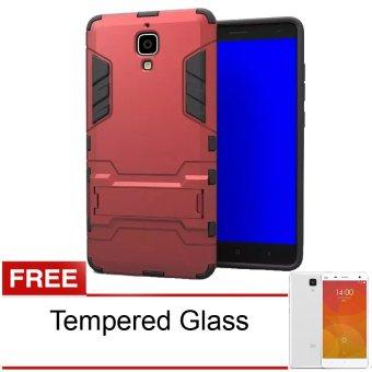 Calandiva Dragon Shockproof Hybrid Case for Iphone 5 / 5s / 5SE 4 Inch - Hitam