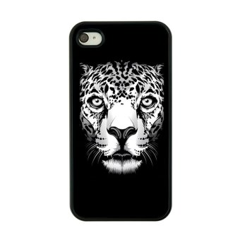 Harga Plastic Back Phone Case for iPhone 4 4s (Black/ White)