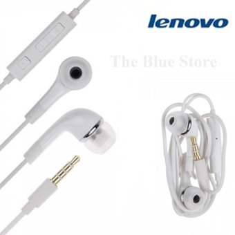 Harga Lenovo Earphone Stereo Mega Bass White - Original